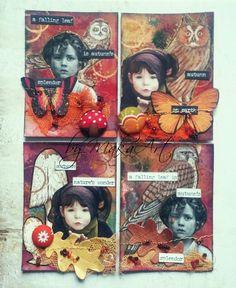 """ATC Set """"Autumn"""" Môjaktuálny príspevok na ScrapArt.cz   prináša inšpiráciu v podobedvoch ATC setov na jesennú tematiku v hrejivej palete farieb...   Spo..."""