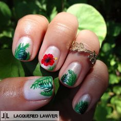 Lacquered Lawyer | Nail Art Blog: Hawaiian Hibiscus
