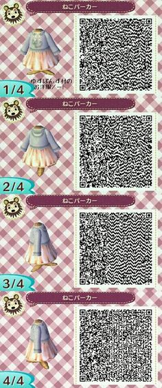 """ontariocrossing: """" Post a QR Code you are excited to use I believe this is called the Hooded Kitty Sweater. It just looks so cute & I love cats ~ """""""