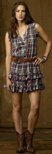 Denim & Supply Ruffle Mini Dress