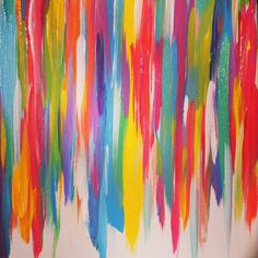Color+Blast+Abstract+Canvas+by+bkraftybybethany+on+Etsy,+$80.00