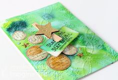 by Jowilna Nolte Working out of my comfort zone this month with the color green! But boy did I enjoy myself using all these amazing rich colors in this papercrafting project. Look at the effects yo…