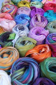 shibori ribbons