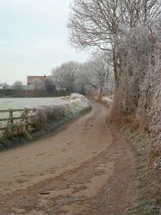 Daniels Lane in the frost, Aldridge, Walsall, England All Original Photography by http://vwcampervan-aldridge.tumblr.com