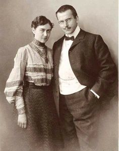 Emma and Carl Jung.1905.