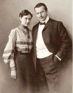 Emma and Carl Jung.1905.