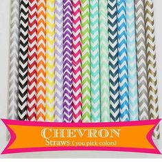 Chevron straws on etsy.
