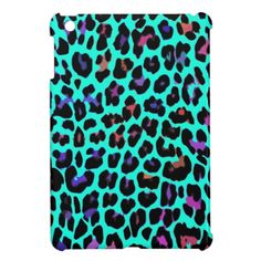 Turquoise Pop Leopard iPad Mini Cases