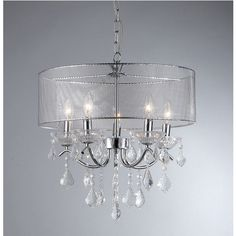 Crystal 5-light Pendant Lamp - Overstock™ Shopping - Great Deals on Warehouse of Tiffany Chandeliers & Pendants