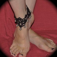 Salome's Adornment - Tatted Anklet - All Bells. $40.00, via Etsy.