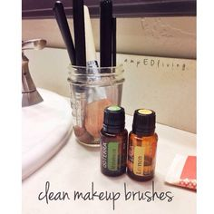 """Beauty tip time! Clean your makeup brushes with a few drops of Lemon and Melaleuca Essential oils. They are gentle on your brushes yet hardcore for…"""