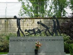Buna Monowitz Holocaust Memorial at historic Pere Lachaise Cemetery—Paris