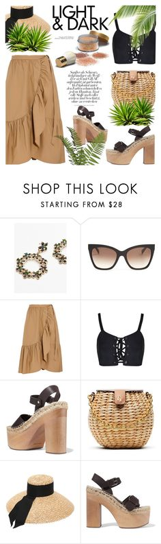 """Tropical"" by cilita-d ❤ liked on Polyvore featuring Free People, MaxMara, J.Crew, Paloma Barceló, Frances Valentine and Eugenia Kim"
