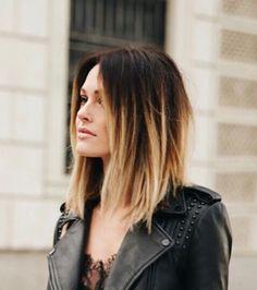 120 short ombre hair color ideas to try – page 7 Caroline Receveur Hair, Medium Hair Styles, Curly Hair Styles, Short Ombre, Long Curly Hair, Stylish Hair, Balayage Hair, Dark Hair, Hair Lengths