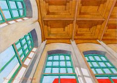 """Decorazioni da parete - """"Stanza abbandonata V"""". Dipinto ad olio. - un prodotto…"""
