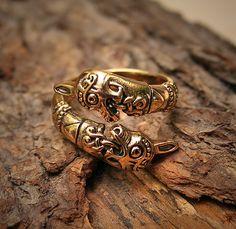 Viking horse ring