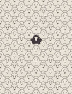 black sheep art print by Davies Babies Art And Illustration, Illustrations, Pattern Illustration, Cute Pattern, Pattern Art, Textile Patterns, Print Patterns, Textiles, The Odd Ones Out