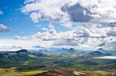 View over Thorsmork Valley, located in the South highlands.