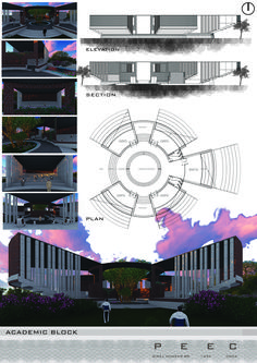 College Works, Creative Architecture, Meditation Center, Thesis, Centre, Composition, Presentation, Photoshop, Bedroom