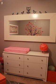 babyzimmer einrichtung deko ideen vögel-grüner wickelkommode, Schlafzimmer design