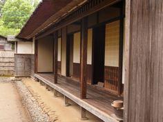 日本家屋 明治時代 - 縁側 Japanese Mansion, Japanese Buildings, Japanese Tea House, Traditional Japanese House, Timber Architecture, Japan Architecture, Architecture Design, Asian Design, Japanese Design