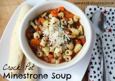Yummy Healthy Easy: The BEST Crock Pot Minestrone Soup