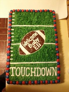 Ole Miss Football Baby Shower Cake