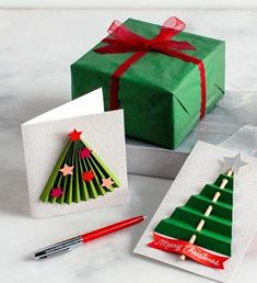 Christmas Cards The art of handmade holiday cards is a treasure for the creator and recipient alike. This season, try your hand at one of our many holiday-card craft ideas. Whether the sentiment is. Diy Holiday Cards, Christmas Cards To Make, Homemade Christmas, Diy Christmas Gifts, Christmas Art, Christmas Ornaments, Christmas Cards Handmade Kids, Cards Diy, Holiday Images