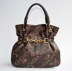 Designer LV Cowskin Leather Handbags Dark Coffee M95038