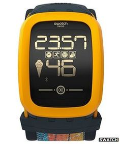Swatch Touch Zero One. Once an innovator, now joining the ranks as late adaptor. Swatch the cheap2behip brand goes digital.