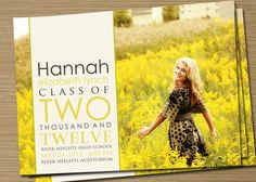 Graduation Announcement PRINTABLE Two Thousand by CardsEtcetera, $15.00