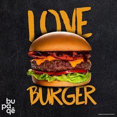 Social Media Bupaqê on Behance Food Graphic Design, Food Menu Design, Food Poster Design, Food Truck Design, Pizza Menu Design, Burger Menu, Pizza Burgers, Burger Restaurant, Fast Food Restaurant