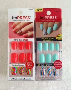 Impress gel manicure oval next wave fabulous nails 2 design choices kiss impress one step gel manicure 62304 64274 prinsesfo Image collections