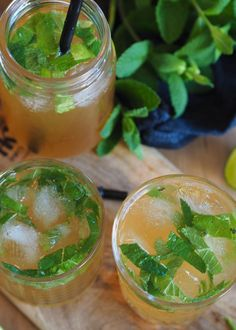 Ingefærøl mojito – Sesongens friskeste drink! Mojito, Moscow Mule Mugs, Cantaloupe, Salsa, Mexican, Fruit, Tableware, Ethnic Recipes, Food