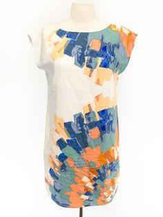 Tibi Size 4 White Short Sleeve Dress- always love Tibi!