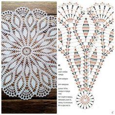 No photo description available. Crochet Stitches Free, Crochet Doily Diagram, Crochet Doily Patterns, Crochet Mandala, Thread Crochet, Filet Crochet, Crochet Motif, Crochet Designs, Crochet Flowers