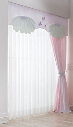 35 Nice Kids Room Curtain Ideas To Create a Fun Space - Decorating our kids' rooms brings out the creativity in all of us. Part of why we enjoy it so much is the freedom it allows us to combine bright and b. Kids Bedroom Designs, Baby Room Design, Baby Room Decor, Bedroom Decor, Girls Room Curtains, Home Curtains, Butterfly Baby Room, Rideaux Design, Curtain Designs