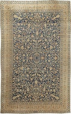 Persian rugs: Persian rug (antique) rug in beige & green color, oriental rug, oriental pattern for modern, elegant interior decor, rug in living room #rug #persianrug