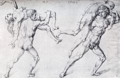 Abduction Of A Woman (Rape Of The Sabine Women) by Albrecht Durer #art