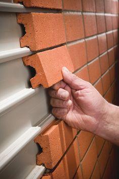 Brick that wall #shippingcontainerhomes