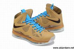 new product 07217 f62fb 607078-200 Hazelnut Nike LeBron X QS EXT Shoes Store Nike Lebron, Lebron 11