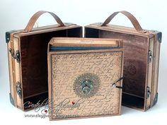 (10) Vintage Style Suitcase with a Drawer Album - YouTube Mini Albums Scrap, Mini Scrapbook Albums, Scrapbook Journal, Best Luggage, Kids Luggage, Luggage Sets, Travel Luggage, Tutorial Scrapbook, Papel Scrapbook