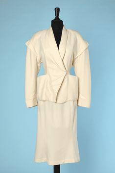 Costumes, Tailleurs Tailleur Dior Jupe Fourreau Veste Grandes Poches Vintage Reasonable Price Femmes: Vêtements
