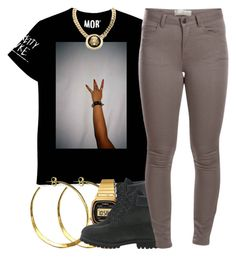 """""""February 15 , 2k15"""" by xo-beauty ❤ liked on Polyvore featuring Rebecca Norman, Casio, Timberland, Pieces and Roial"""