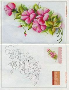riscos de pintura em tecido - Pesquisa Google