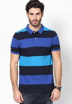 48afacf7 Buy GIORDANO Multicoloured Colored Striped Polo T-Shirt Online - 3373534 -  Jabong