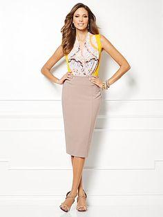 Eva Mendes Collection - Mila Bodysuit - Kaleidoscope Print - New York & Company
