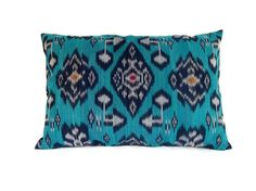 Ikat Pillow Cushion Cotton Handwoven 12x18 by ginette1223 on Etsy, $17.00
