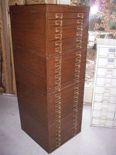 Awesome Shaw-Walker 24 drawer Metal File Cabinet #cabinet