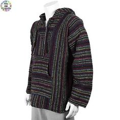 #Hoodie mexican baja jerga #festival hooded hippy jumper surf #hoody multicoloure,  View more on the LINK: http://www.zeppy.io/product/gb/2/282139884866/